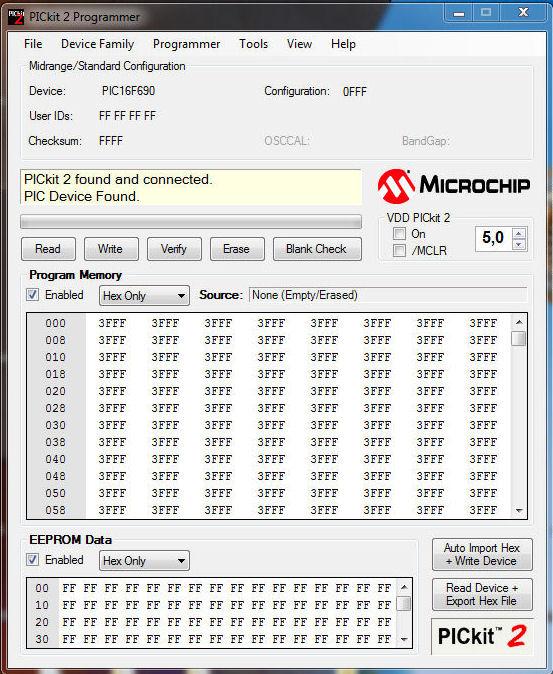 Microchip PICKit 2 v2.50